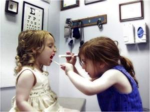 kids play as doctor